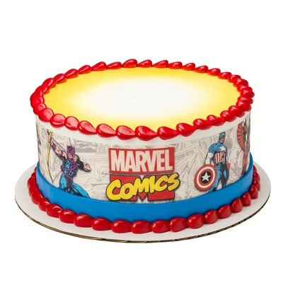 Marvel Comics Comic Strip Cake Strips Licensed Edible Cake Topper #8372 by DecoPac ()