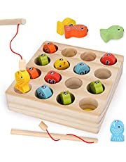 Wooden Magnetic Fishing Toy for Kids Toddlers Montessori Toys Gifts for 1-5 Year Old Kids Toddlers