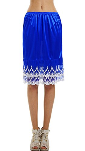 - Melody [Shop Lev] Double Chandelier Lace Skirt Extender/Half Slip (Blue, Small)