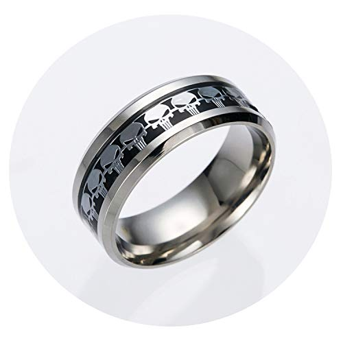 European and American Film Peripheral Punisher Logo Stainless Steel Ring (Best Punisher Action Figure)