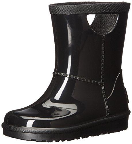 UGG Kids T Rahjee Rain Boot, Black, 10 M US Toddler (Rain Ugg Boots)