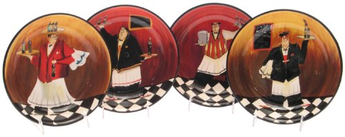 Certified International Bistro 9-Inch Soup/Pasta Bowl, Set of 4 ()