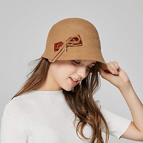 GWLYDB nouveau Girls Woolen Hat Autumn Winter Noble Hats mode Hats Girls mode Dome Cap Students Hat Floral Leisure Hat