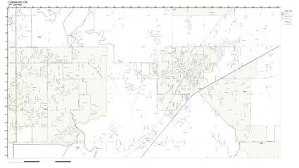 Amazon.com: ZIP Code Wall Map of Claremore, OK ZIP Code Map Not