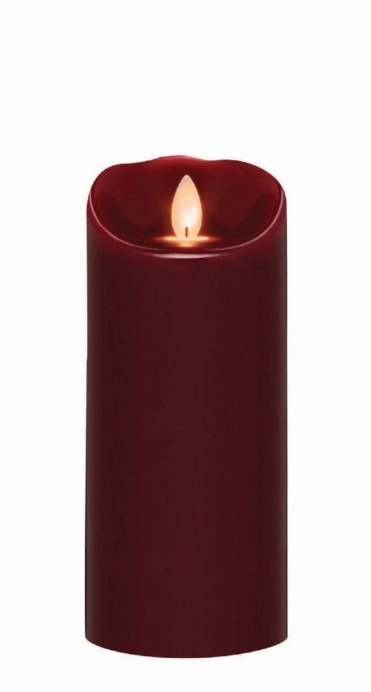 Sterno Home MGT814307OX00 Oxblood Wax Pillar with Timer