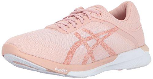 ASICS Womens fuzeX Rush Running Shoe, White Evening Sand, 8 Medium US