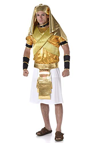 Men's Ramses Egyptian King Costume - for Halloween Party Accessory, Extra -