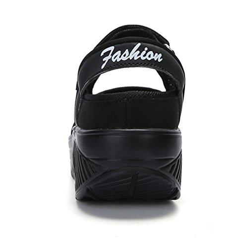 Sportivi Nero Mary Scarpe Jane Hishoes Sneaker Casual Estive Sandali per Zeppa Ragazze Scarpe Moda da Mesh da Barca Ginnastica Donna Basse Mocassini 15nqfqFxwp