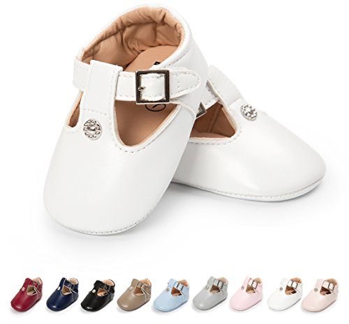 Save Beautiful Meckior Fashion Infant Baby Boys Girls Soft Sole Sequin Dress Shoes Moccasin Prewalker Party Shoes (0-6 Months, A-White)