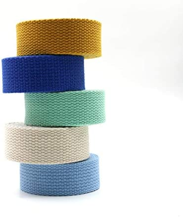 Aumey Cotton Webbing,Webbing Bag Handles Olive drab, Width=2 inch Bag Strap for Tote Bag Upholstery Webbing,78 Inch