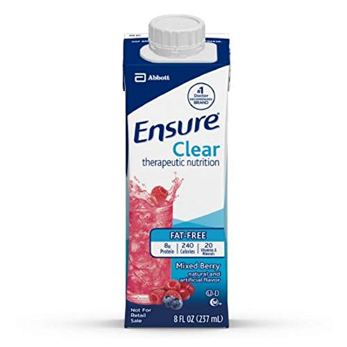 Ensure Clear Mixed Berry, 8 Ounce Recloseable Carton, Abbott 64900 - One - Berry Nutrition