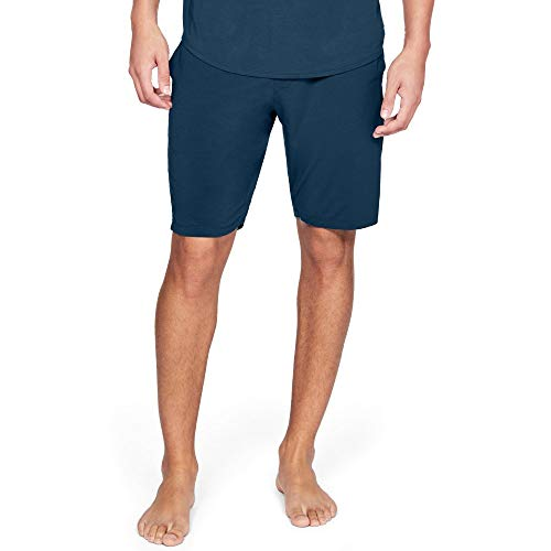 Under Armour Men's Recovery Sleepwear Elite Short, Techno Teal (489)/Metallic Silver, Large