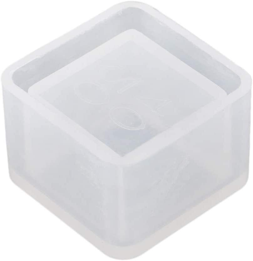 Craft Molds DIY Flower Pot Fondant Cake MOL Resin Casting Storage Box Mould Jewelry Making Silicone Mold for Polymer Clay Resin Epoxy Vampire Coffin Crafting