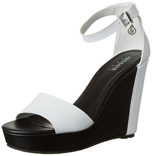 big sale d228a fe576 Armani Damen 9251527p546 Weiß horst Plateau Sandalen Jeans ...