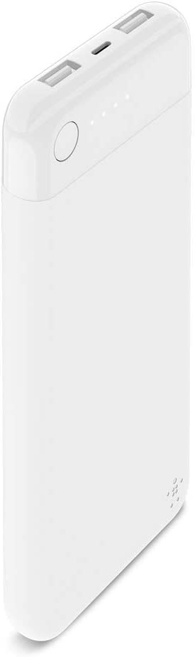 Belkin Boost Charge Power Bank 10K with Lightning Connector (MFi-Certified 10000 mAh Portable Charger for iPhone/iPad/AirPods), White