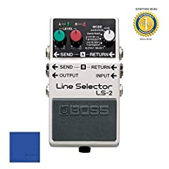 BOSS LS-2 LS-2 Line Selector pedal represents the easy way to switch settings among several effects devices or amplifiers, or route input and output signals. Two line loops and six looping modes provide a wide variety of applications.Two line...