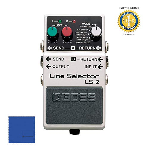 Boss LS-2 Line Selector Pedal with 1 Year Everything Music Extended Warranty