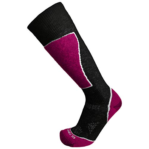 Ultimate Socks Womens Lightweight Merino Wool Ski Snowboard Performance Raspberry Medium 7-9.5
