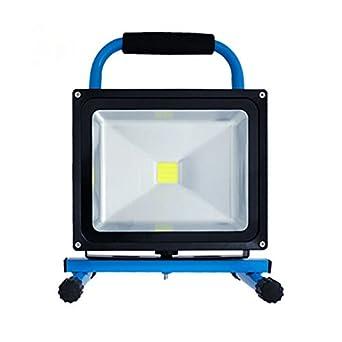 SAILUN 10W Kaltweiß Blau LED Mit Akku Baustrahler Fluter Handlampen Flutlicht Arbeitsleuchte Tragbar wiederaufladbare Fluter IP65 (10W Kaltweiß )