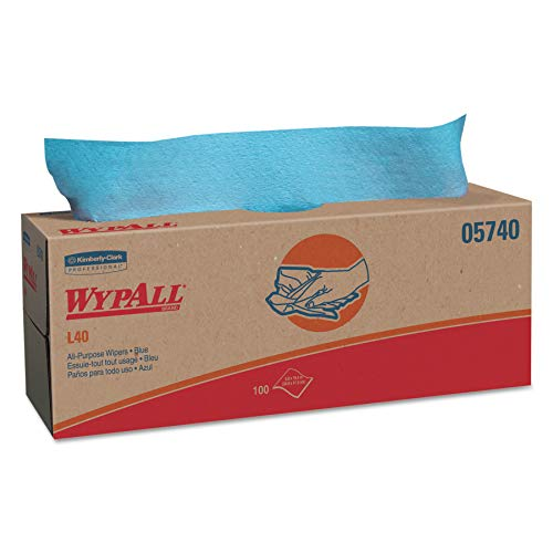 (WypAll 05740 L40 Towels, POP-UP Box, Blue, 16 2/5 x 9 4/5, 100 per Box (Case of 9 Boxes))
