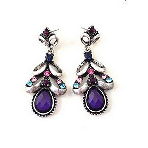 Elakaka Women's Luxury Graceful Elegant Retro Diamond Earrings (Katy Perry Costumes Australia)