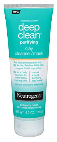 (Neutrogena Deep Clean Mask / Cleanser Purifying Clay 4.2 Ounce (124ml) (2)