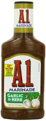 A.1. Steak House Marinade, Garlic & Herb, 16-Ounce Bottles (Pack