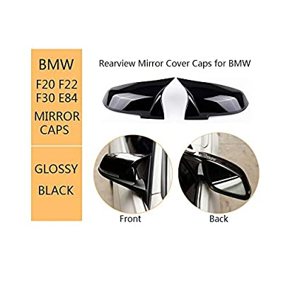 Door Mirror Covers For BMW 3 Series F30 F31 F34 4 Series F32 F33 F36 2 Series F22 F23 1 Series F20 X1 Series E84 M2 F87, ABS Glossy Black Replacement Side Rearview Mirror Cover Caps: Automotive