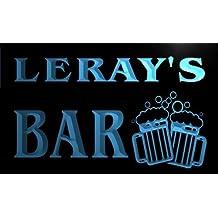 w058473-b LERAY Name Home Bar Pub Beer Mugs Cheers Neon Light Sign