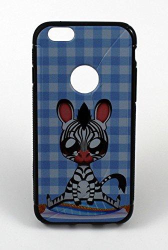 Custodia in silicone Back Case Cover–Cover Small zebra per Apple iPhone 6S rigida custodia Bumper