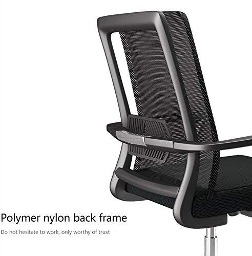 DBL Datorstol hög rygg excutive spelstol rosett fot ergonomisk dator skrivbord stol med ländrygg stöd nätkontorsstol för kontor mötesrum skrivbordsstolar (storlek: Vit ram)