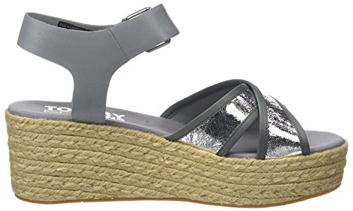 Sandal 000 Tommy Women''s Flatform Jeans Metallic Silver silver wnOU8q
