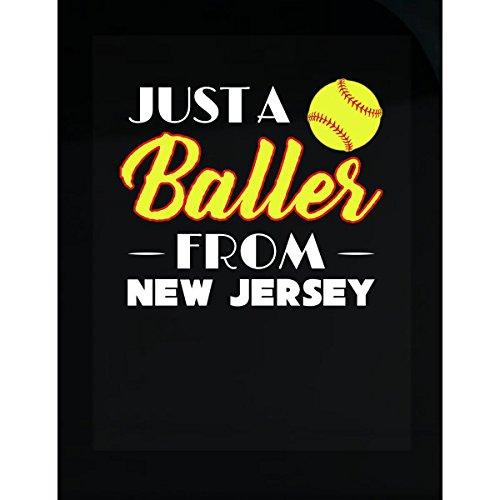 (Green Cow Land Just A Baller from Jersey - Sticker)