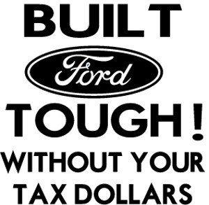 Built Ford Tough Truck (Built Ford Tough Decal, Decal Sticker Vinyl Car Home Truck Window Laptop)
