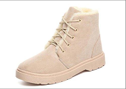 da e di tacco gray cashmere autunno donna stivali scarpe scarpe ispessimento caldo più breve donna cotone inverno a basso stivali Scarpe da KUKI da IwzgUU