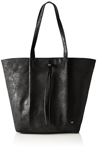 Tom Tailor 22010, Bolso Mujer, 11x32x39 cm Negro (Schwarz)