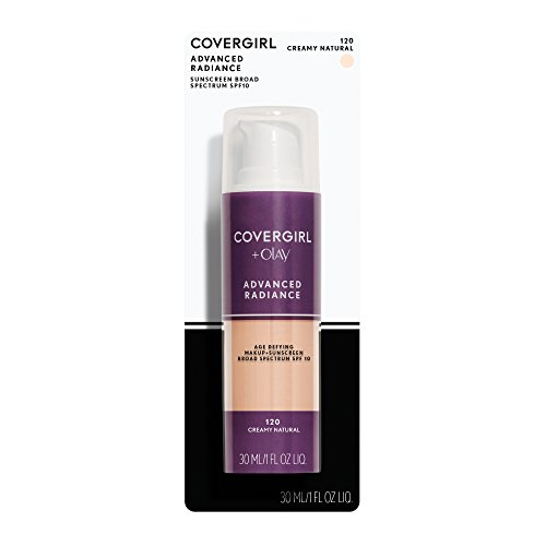 COVERGIRL Advanced Radiance Age Defying Foundation Makeup Creamy Natural 120, 1 oz