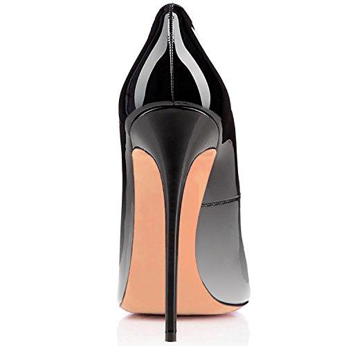 da bianco Nero Tacco Classiche uBeauty col Scarpe Tacco Scarpe Scarpe col Donna Fx74xS