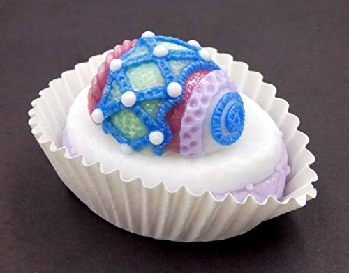 Oval Kiln Glass - Handmade Art Glass Petit Four Egg with Criss-Cross Gift Easter Décor