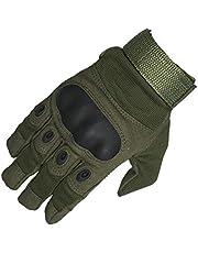 ZHJBD Equipo de Proteccion/Protección del Ventilador del ejército Antideslizante Guantes industriales Deportes al Aire Libre Fitness Guantes de Montar con Cinco Dedos (Color : Army Green, Size : XL)