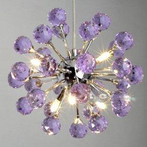 6 light floral shape k9 crystal ceiling light purple9004 amazon 6 light floral shape k9 crystal ceiling light purple9004 aloadofball Images