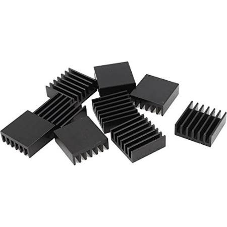UNITUS BLACK ALUMINUM HEATSINK MODIFIED 3 HOLES PER PRINT T220M(36)L,30# (QTY 10)