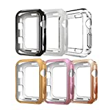 Compatible with Apple Watch Case 38mm,6Pack TPU Protective Case Scratch-Resistant Bumper for Apple Watch Series 3 Series 2 Series 1 Edition Sport (6Pack, 38mm)