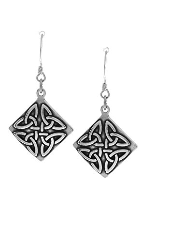Jewelry Trends Sterling Silver Celtic Trinity Triangle Knot Dangle Earrings (Sterling Silver Triangle Hook Clasp)
