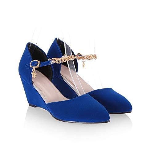 AN con Sandali 35 EU Zeppa Blue DIU01206 Donna Blu FFPqwAvx
