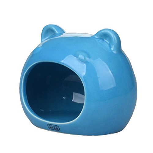 ANONE Hamster/Small Animal Hideout Hamster House Critter Bath (Blue)