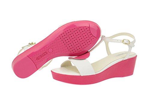 Geox Geox Nouvelle - Damen Sandalette - weiß pink - Sandalias de vestir para mujer blanco - blanco