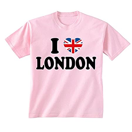 Flip Youth Kids Childrens I Love London Union Jack Heart T-Shirt 4168 2BwtWuCL