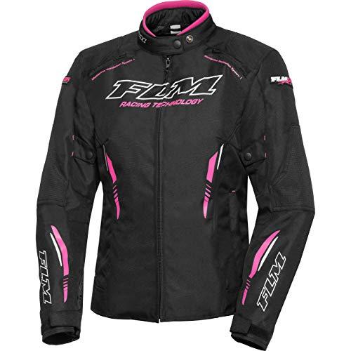 FLM Motorradjacke mit Protektoren Motorrad Jacke Sports Damen Textiljacke 6.0, Sportler, Ganzjährig