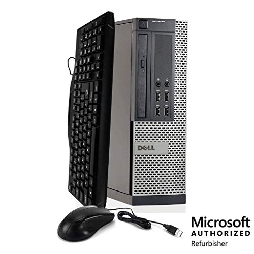 Dell Optiplex 9020 Workstation, Intel Core i5 3.2 GHz, 16 GB RAM, New 2 TB SATA HDD, Keyboard & Mouse, Wi-Fi, DVD-ROM, Windows 10 Professional, (Upgrades Available) (Renewed)